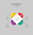 infographics business report template layout vector image vector image
