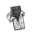 ink sketch of chocolate bar vector image vector image