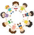 Kids forming a circle vector image