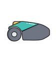 lawn mower robot simple gardening icon in trendy vector image
