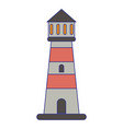 lighthouse building symbol isolated blue lines vector image
