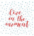 Live in the moment Lettering vector image