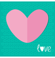 Paper heart on blue background Love Valentines day vector image vector image