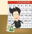Pay day on calendar Idea concept vector image vector image