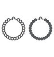 pearls bracelet line and glyph icon jewelry and vector image vector image