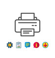printer icon printout device sign vector image vector image