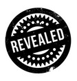 revealed rubber stamp vector image vector image