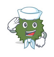 sailor durian character cartoon style vector image