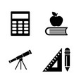 school inventory simple related icons vector image