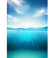 sea landscape underwater space vector image