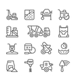 set line icons concrete vector image
