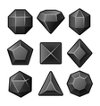 Set of Black Gems for Match3 Games vector image vector image