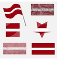 Set with Flags of Latvia vector image vector image