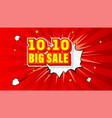 shopping day 1010 global big sale year vector image vector image