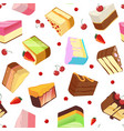 slices of cake seamless pattern isolate on vector image vector image