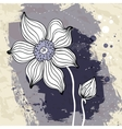 Snowdrop flower on Crumpled paper background vector image vector image