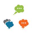 speech bubble icon vector image vector image