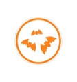 sticker full moon and bats on a white background vector image vector image