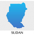 sudan map in africa continent design vector image