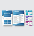 template of modern brochures with diagonal vector image