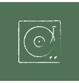 Turntable icon drawn in chalk vector image vector image