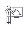 upset businessman graph down linear icon sign vector image vector image
