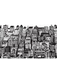 Vintage with Hand drawn big city vector image