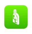 washing conditioner icon green vector image vector image