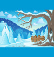 winter tree theme image 2 vector image vector image
