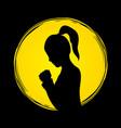 woman prayer shadow graphic vector image vector image