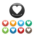 heart icons set simple vector image