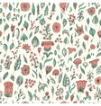 Beautiful seamless floral pattern flower vector image