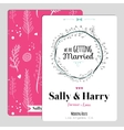 Wedding romantic floral Save the Date invitation vector image