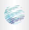 abstract blue water circle background design vector image
