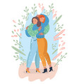 adult mother and teenage daughter together vector image vector image