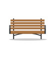 bench made wood place for people to sit vector image vector image