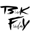 Black Friday Sale hand drawn grunge lettering vector image vector image