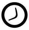 boomerang icon black color in circle vector image