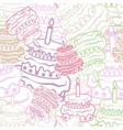Cake seamless background vector image vector image