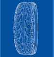car tire concept rendering of 3d vector image vector image