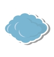 cloud climate concept isolate icon vector image