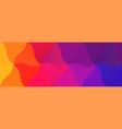 color blend rainbow low poly bg design vector image