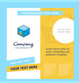 cube company brochure template busienss template vector image vector image