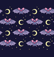 cute bats pattern vector image vector image