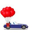dark blue modern opened cartoon cabriolet car vector image vector image