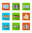 design facade and housing sign set of vector image