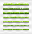 different types of green grass borders vector image