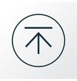 download icon line symbol premium quality vector image