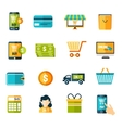 E-commerce icons set flat vector image vector image
