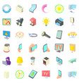 electricity icons set cartoon style vector image vector image